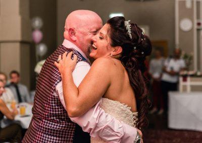 first dance at Northamptonshire wedding