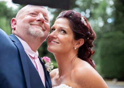 fun bride & groom selfie at Northamptonshire wedding